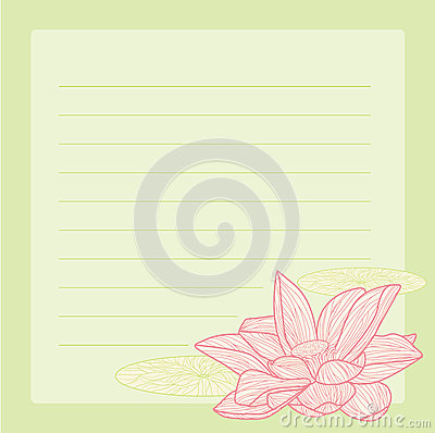Pink lotus notepad