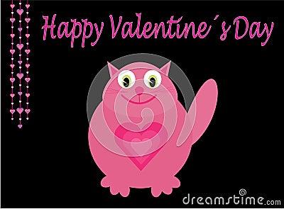 Pink love cat