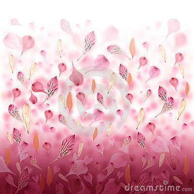 Pink Love Flower Valentine Background
