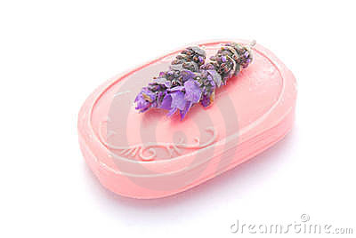 Pink luxury soap