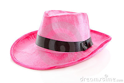 Pink mafia hat