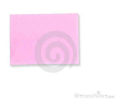 Pink memo note