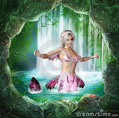 Free Pink Mermaid Stock Images - 30905574