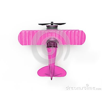 Free Pink Metal Toy Plane On White Royalty Free Stock Photo - 139146985