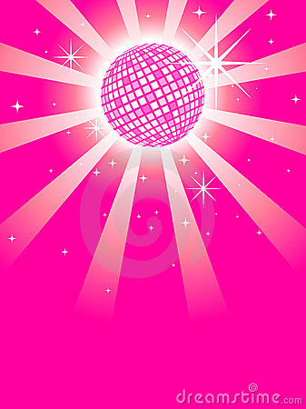 Pink Mirror Discoball