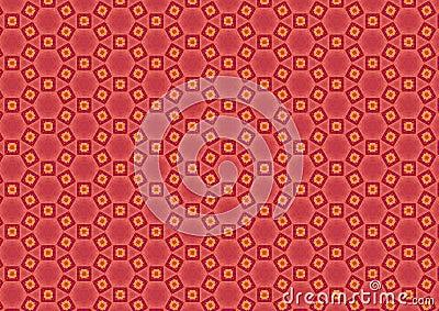 Pink Mosaic Circles Pattern