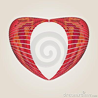 Pink mosaic heart