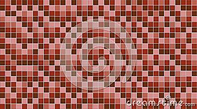 A pink mosaic wall