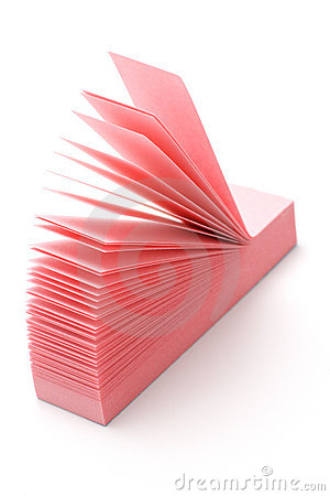 Pink narrow post-it