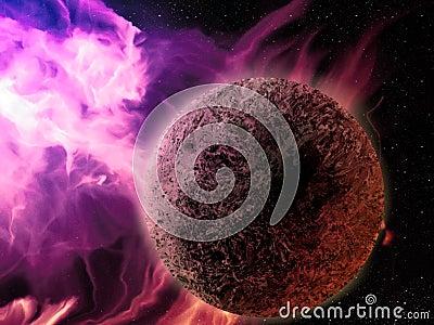 Pink Nebula - Digital Painting
