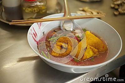 Pink noodle