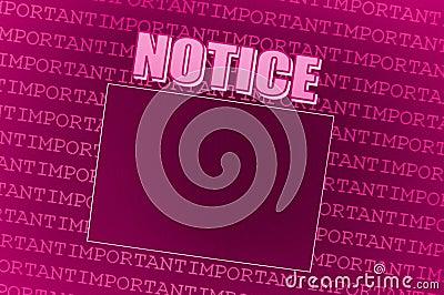 Pink Notice Board
