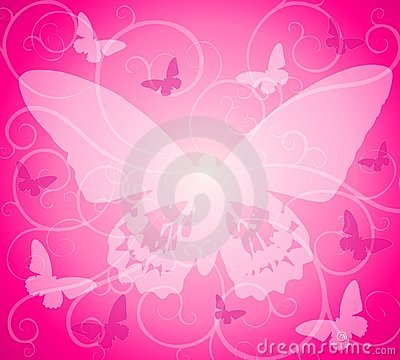 Pink Opaque Butterfly Background