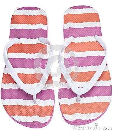 Pink and Orange Flip Flop Sandals