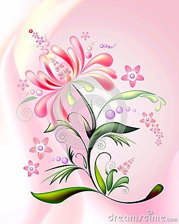 Pink-orange flower-2