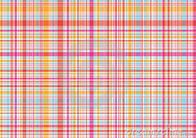 Pink and orange plaid pattern
