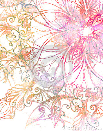 Free Pink Ornament Mandala And Fractal Color Effect. Stock Image - 55481881