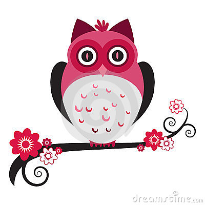 Free Pink Owl Stock Photography - 24171132