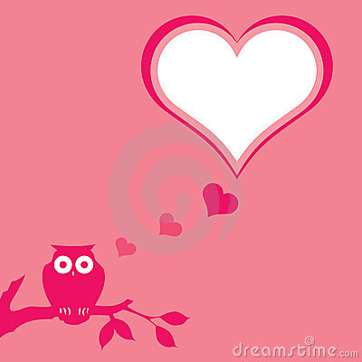 Pink owl background