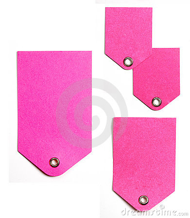 Pink Paper Gift Tags