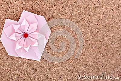 Pink paper heart