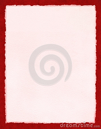 Pink Paper on Red