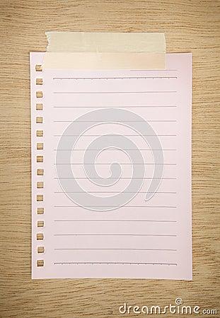 Pink paper sheet