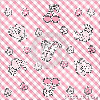 Pink pastel baby background