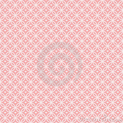 Pink Pattern Interlocking Circles with hearts