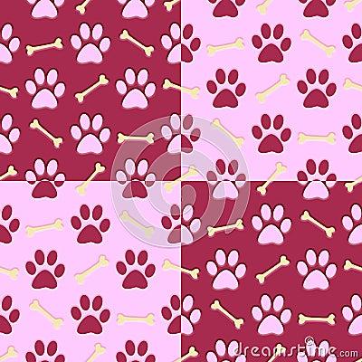 Pink Paw Print Background Stock Illustration Image 41045901