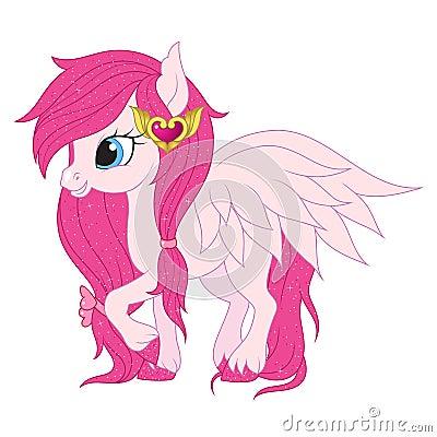 pink pegasus illustration stock vector image 56538964