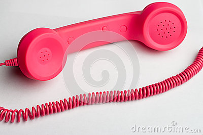 Pink phone and cord