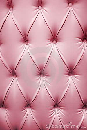 Pink picture of genuine leather