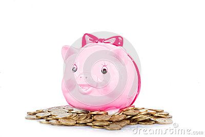 Pink the pig-coin box