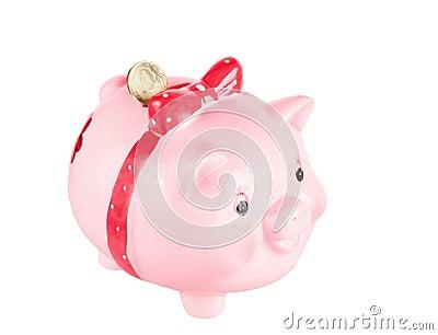 Pink a pig-coin box