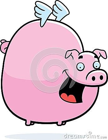 Pink Pig Flying