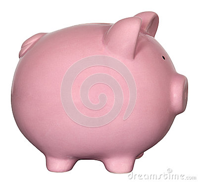 Free Pink Piggy Bank Isolated Stock Images - 31492024