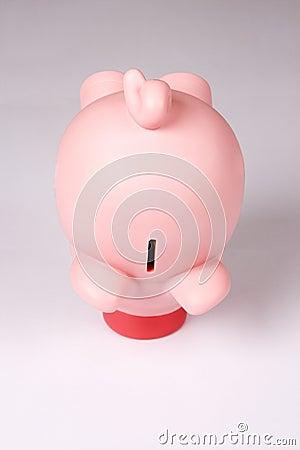 Pink piggy bank money box