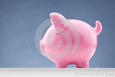Pink Piggy Bank - Side View