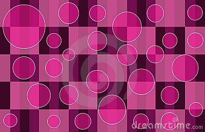 Pink Plaid Bubbles