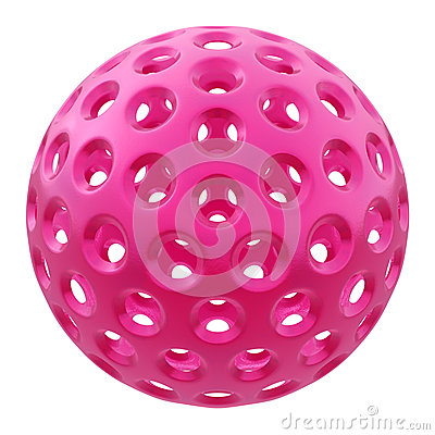 Pink plastic ball