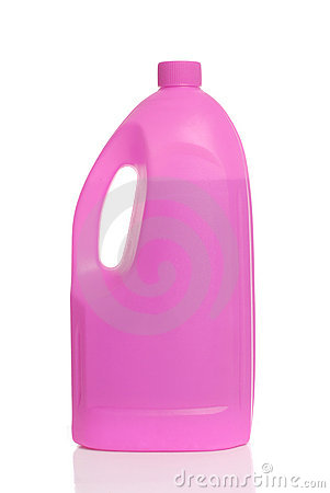 Pink plastic bottle