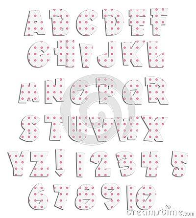 Pink Polka Dot Acrylic Alphabet