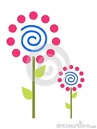 Pink Polka Dot Flowers