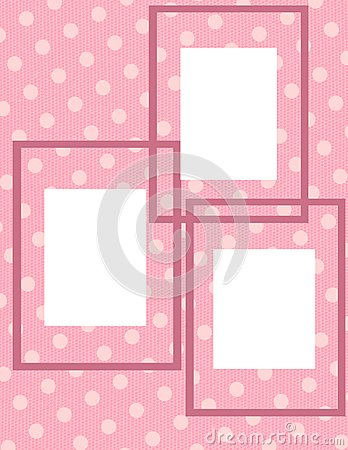 Pink Polka Dot Photo Collage