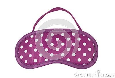 Pink polka-dot sleeping mask