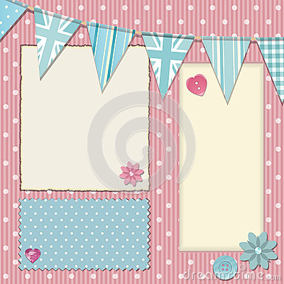 Pink polka dot srapbooking background