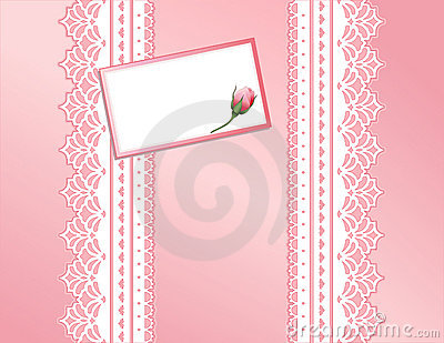 Pink Present, Antique Lace, Gift Card