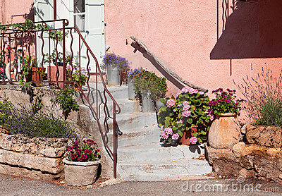 Pink provence facade