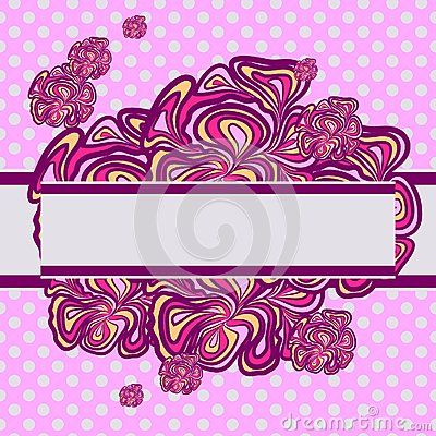 Pink-purple Abstract Design
